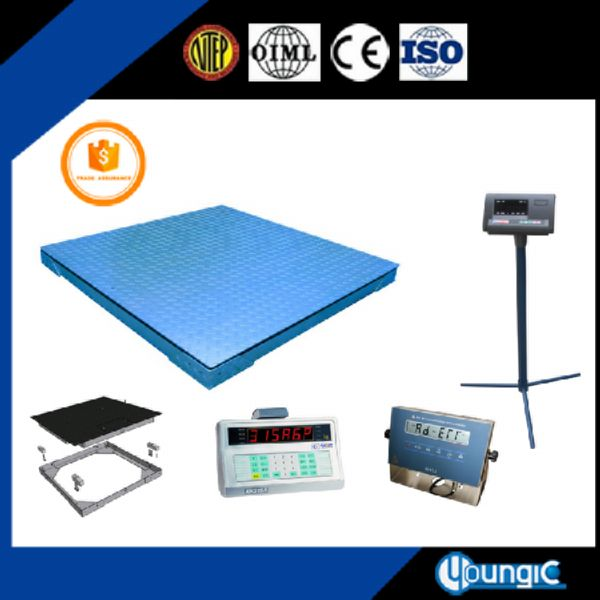 1000 lb industrial floor weighing scale
