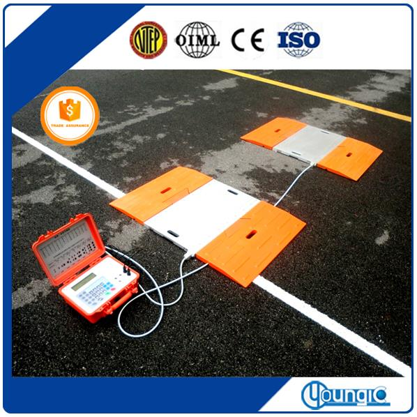 Shanghai 60 Ton Convenient Wired Truck Axle Scale The Best Price