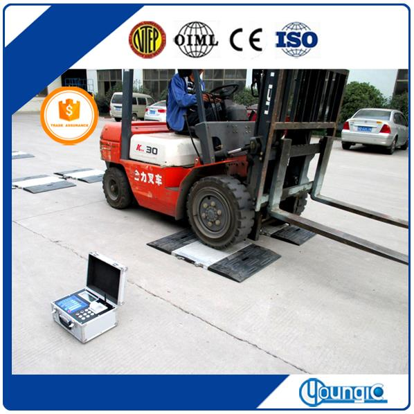 China 60 Ton Mobile Vehicle Wireless Axle Weighing Scale Factory Export